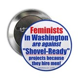 "Shovel-Ready fight 2.25"" Button (10 pack)"