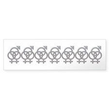 SWINGERS SYMBOL FMF GRAY Bumper Bumper Sticker