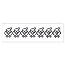 SWINGERS SYMBOL FMF GRAY Bumper Sticker (50 pk)