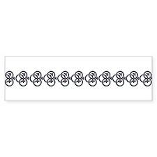 MFM SWINGERS SYMBOL GRAY Bumper Sticker (10 pk)