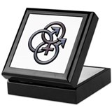 MFM SWINGERS SYMBOL GRAY Keepsake Box