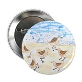 "Sandpipers on Old Orchard Bea 2.25"" Button (10 pac"