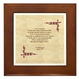 Sonnet 116 Framed Tile, Will Shakespeare