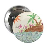 "Flamingo Island 2.25"" Button (10 pack)"