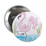 "Pink Flamingo 13 2.25"" Button"