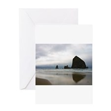 Rocks on Cannon Beach Greeting Card