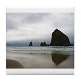 Rocks on Cannon Beach Tile Coaster