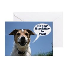 Happy Birthday Card - cheeky Jack Russell greeting