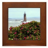 Ram Island Ledge Light Framed Tile