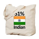 51% Indian Tote Bag