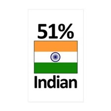 51% Indian Rectangle Sticker 10 pk)