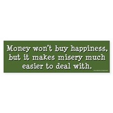 Money Won't Buy Happiness (sticker)
