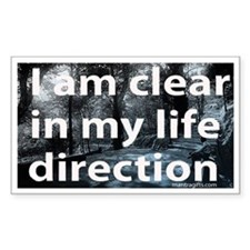 Life Direction Rectangle Decal