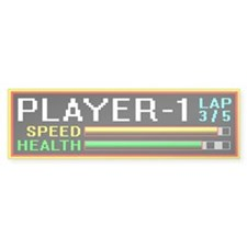 Player 1 Highway Racer Bumper Bumper Sticker