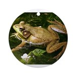 Green Frog Ornament (Round)