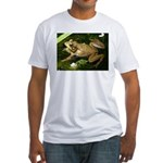 Green Frog Fitted T-Shirt