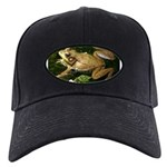 Green Frog Black Cap