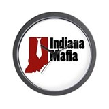 Indiana Mafia Wall Clock