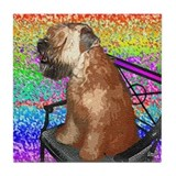 Wheaten Terrier Puppy Tile Coaster
