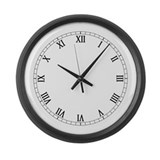 Roman Numeral Large Wall Clock
