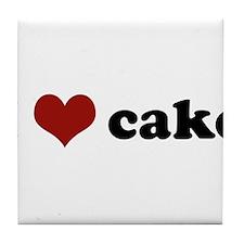 I love cake Tile Coaster