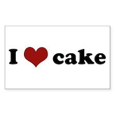 I love cake Rectangle Sticker
