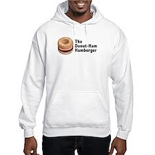 Donut Ham Hamburger Hooded Sweatshirt