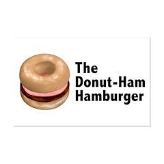 Donut Ham Hamburger Posters
