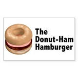 Donut Ham Hamburger Rectangle Decal