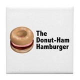 Donut Ham Hamburger Tile Coaster