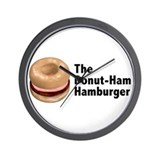 Donut Ham Hamburger Wall Clock