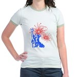 ILY Fireworks Liberty Jr. Ringer T-Shirt