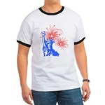 ILY Fireworks Liberty Ringer T
