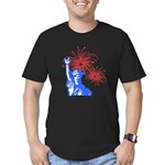 ILY Fireworks Liberty Men's Fitted T-Shirt (dark)
