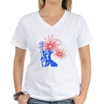 ILY Fireworks Liberty Women's V-Neck T-Shirt