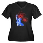 ILY Fireworks Liberty Women's Plus Size V-Neck Dar
