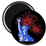ILY Fireworks Liberty Magnet
