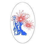 ILY Fireworks Liberty Oval Sticker (10 pk)