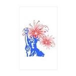 ILY Fireworks Liberty Rectangle Sticker 10 pk)