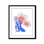ILY Fireworks Liberty Framed Panel Print