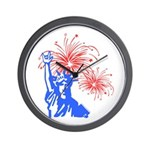 ILY Fireworks Liberty Wall Clock