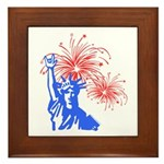 ILY Fireworks Liberty Framed Tile