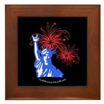 ILY Fireworks Liberty Night Framed Tile