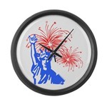 ILY Fireworks Liberty Large Wall Clock