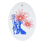 ILY Fireworks Liberty Oval Ornament