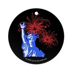ILY Fireworks Liberty Ornament (Round)
