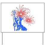 ILY Fireworks Liberty Yard Sign