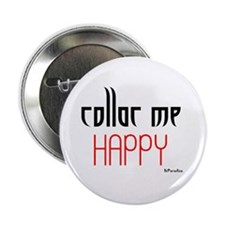 "Collar Me Happy (red) 2.25"" Button (100 pack)"