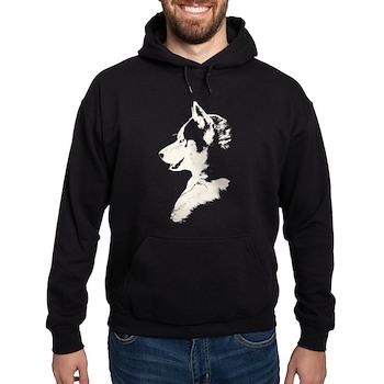 Siberian Husky Sled Dog Hoodie (dark)