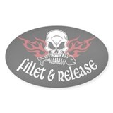 Fillet &amp; Release Oval Decal
